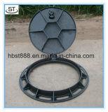 Duktiler Eisen-Einsteigeloch-Deckel mit Scharnier und Verschluss