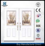 装飾的なガラスによって挿入される二重葉のガラス繊維のドア