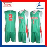 Healong modifica el baloncesto Jersey de la sublimación para requisitos particulares