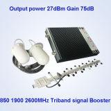Repetidor St-Cpw27 da faixa 850/1900/2100MHz G/M do impulsionador do sinal tri