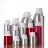 Botella de petróleo esencial cosmética de aluminio con el casquillo evidente del pisón (NAL02)