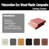 Revestimento composto plástico de madeira do Decking WPC de Eco