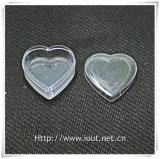 Caja de embalaje plástica del corazón, rectángulo del rosario, rosarios religiosos (IO-p027)