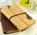 Europen Style Travel Diary Notebook con Trying Rope (SDB-1174)