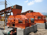 o triturador dentado dobro do rolo 2pg é usado esmagando o carvão cru na mina de carvão feita em China