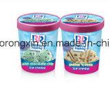 Einzelnes seitliches PET überzogenes Baskin Robbins Eiscreme-Cup-Papier