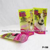 Levar in piedi in su il sacchetto impaccante di plastica dell'alimento per animali domestici con la chiusura lampo