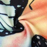 Mulheres impressas Elastane de confeção de malhas Legging da aptidão do poliéster da urdidura de uma alta qualidade de 250 G/M