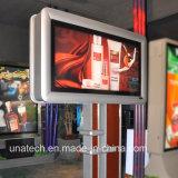 Poste que hace publicidad del rectángulo ligero al aire libre mega del LED Metail