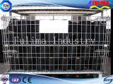 Contenitori industriali accatastabili della rete metallica di memoria (FLM-K-013)