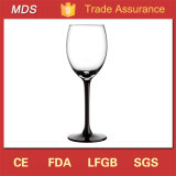 Migliore gambo nero di vetro di vino di alta qualità 350ml di vendita