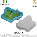 Compostable bonito Map Paper Plate para Fruit Storage