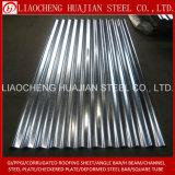 Hoja acanalada galvanizada para el material para techos del metal