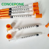 Insulin Syringe mit Orange Cap