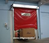 Porte rapide à réparation automatique de roulis de tissu de PVC pour la pièce propre