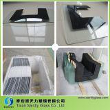 vidrio de cristal curvado y templado de 4mm-6m m del rango del capo motor de cocina de la aplicación