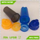 bottiglia di plastica dell'agitatore della proteina 700ml con il coperchio