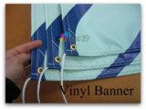 Drapeau imperméable à l'eau extérieur de vinyle de PVC avec cousu dans les cordes, drapeau d'événement