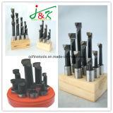 barres d'alésage inclinées par carbure réglé de la qualité 6PCS par Steel