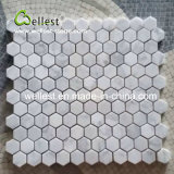 Cararra白いHaxegonのモザイク壁のタイル