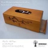 Doos Wholesale_L van het Weefsel van het Bamboe van de Douane van Hongdao de Houten