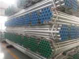 通された端およびプラスチック帽子が付いているASTM A53 Gr. Bの中国によって電流を通される鋼管