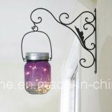 Luces al aire libre decorativas solares colgantes románticas del tarro de masón de la luciérnaga del LED