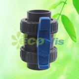 PVC 확실한 벨브 콤팩트 두 배 조합 공 벨브