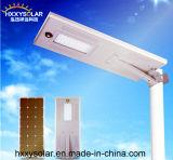 Luz de calle solar accionada solar impermeable de la luz 100W toda en una