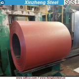 Dx51d galvanizó la bobina de acero prepintada de acero del material de hoja del material para techos de la bobina