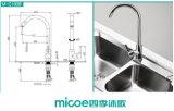 Faucet montado plataforma da cozinha do Gooseneck (100b)
