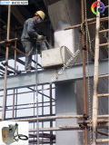 Mastic, mortier, véritable opération sur place en pierre de machine de pulvérisation