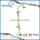 Rubinetto d'ottone dell'acquazzone del bagno dell'oro Polished (ASH9981G)
