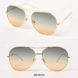 Новые приходя солнечные очки металла женщин способа слишком большой