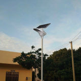 L'usine dirigent tous dans les produits solaires d'un de DEL jardin de réverbère avec le panneau solaire