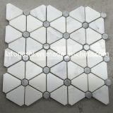 Descuento Carrara White Waterjet Mosaico Azulejos, Mármol Waterjet Piso Patrón