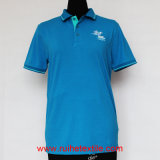 Knit casuale Pique Polo Shirt, Embroidered T-Shirt per Men