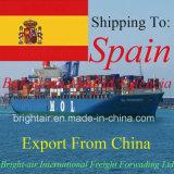 Transporte de carga do planeamento de logística dos transitárioes de China a Madrid, Vigo, Valença, Tenerife, Malaga