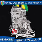 Oggetto d'antiquariato su ordinazione del medaglione della medaglia del metallo rifinito