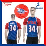 Base-ball Jersey de sublimation de teinture de Healong