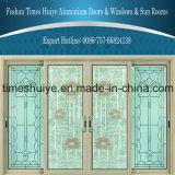 Fabricante de aluminio de la puerta con buena calidad y la intervención en sitio del TUV