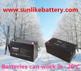Sonnenenergie-Gel-Batterie 12V200ah langlebiges 1500cycles 50% Dod