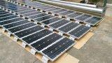 Panneau solaire en dehors des lumières tout dans un nécessaire solaire de réverbères