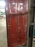 Porte d'en cuivre et en aluminium et en bois