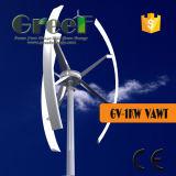 Turbine van de Wind van de As van het Gebruik van het huis 1kw de Verticale met BV