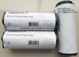 再生利用できるHDPE LDPEはロールのドローストリング袋を入れ込んだ