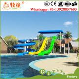 Combinaison de glissière d'eau de fibre de verre de stationnement d'Aqua pour l'usage de piscine d'hôtel