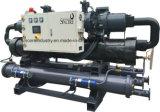 Grosser Größen-Doppelt-Kompressor-schraubenartiger wassergekühlter Kühler 440HP