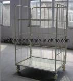 Faltbares Speicherlogistischer Rollenbehälter, Rollenladeplatte, Laufkatze