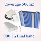 23dBm Dual impulsionador do sinal do telefone móvel do telemóvel de Bandgsm900MHz&3G 2100MHz